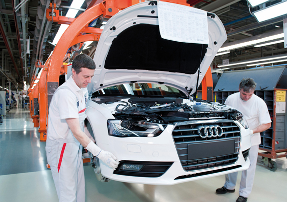 Extra Shifts At The Audi Plant In Ingolstadt Germany