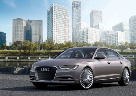 The Audi A6 L e-tron concept, which was presented at Auto China 2012 in Beijing