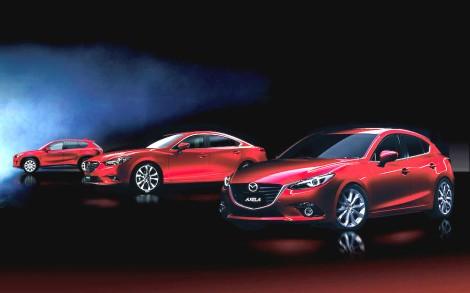 Mazda+CX-5,+Mazda6+and+Mazda3
