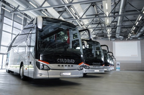 The five Setra ComfortClass 500 coaches form part of an overall order for 19 vehicles.