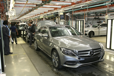 Production of the new Mercedes-Benz C-Class at the East London, South Africa, plant.