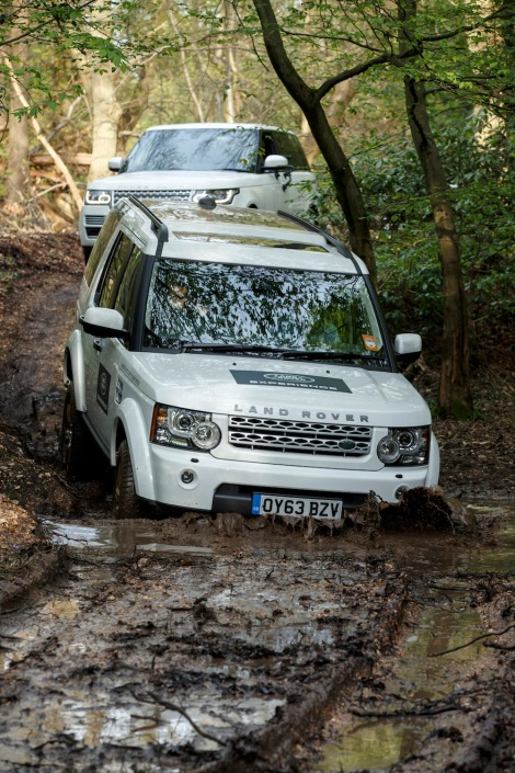 sts experience first-hand the true capability of the Land Rover Experience fleet in the grounds of Hedsor House.