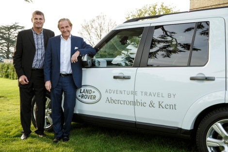 Phil Popham, Global Marketing Director of Jaguar Land Rover (left) with Geoffrey Kent, Founder, Chairman & CEO of Abercrombie & Kent.