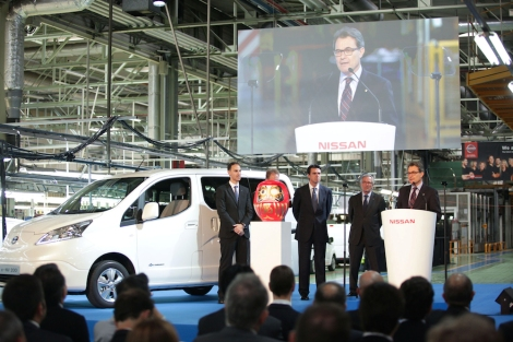 e-NV200 Barcelona Factory Start of Production Ceremony