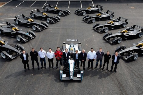 Formula E Teams receive the first batch of 10 single-seater electric cars