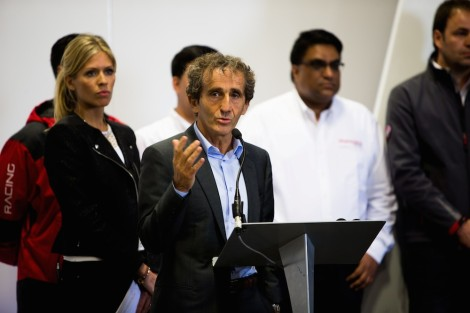 Alain Prost, co-director of the French team E-Dams, and also an ambassador for Renault, was at Donington for this landmark delivery.