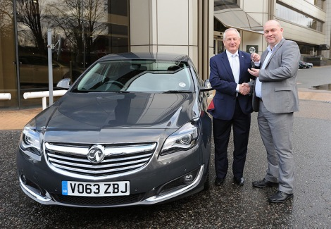 Left: Maurice Howkins, Fleet Sales Customer Relationship Director, Vauxhall; Right: Duncan Webb, Commercial Director, BT Fleet
