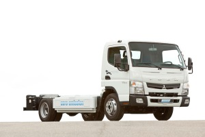 new Fuso Canter E-Cell in customer trials July 2014 – chassis
