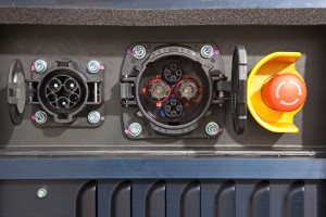 new Fuso Canter E-Cell in customer trials July 2014 – charger unit