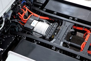 new Fuso Canter E-Cell in customer trials July 2014 – E-Motor