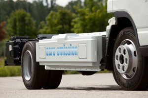 new Fuso Canter E-Cell in customer trials July 2014 – main battery