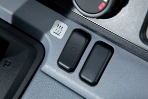 new Fuso Canter E-Cell in customer trials July 2014 – heater switch