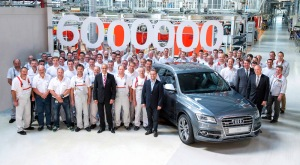 Production jubilee for the Four Rings: The six-millionth Audi with quattro drive rolls off the assembly line, an Audi SQ5.