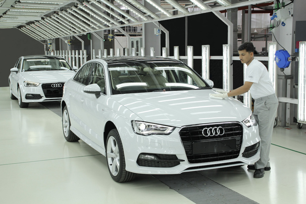The Audi A3 Sedan Rolls Out Of The Aurangabad Plant In