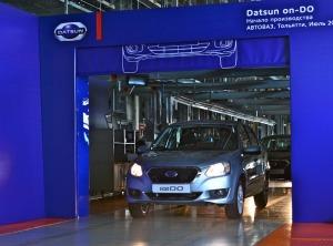 The Datsun on-DO rolls off the line at the Togliatti plant in Russia
