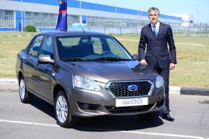 Datsunís global head Vincent Cobee with the on-DO outside the