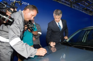 AvtoVAZ President Bo Andersson and head of Datsun Vincent Cobee