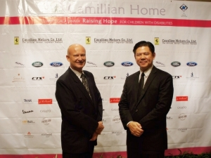 Richard Haigh (Left) General Manager and Sanpong Chuenroj (Right) Managing Director joined the Camillian Home 'Raising Hope charity gala at Dusit Thani Hotel.