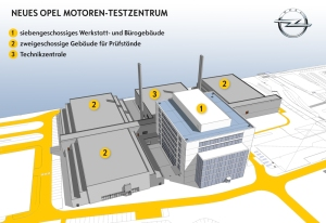 Opel starts major construction project at its Rüsselsheim headquarters: The company continues its investment offensive, allocating 210 million euros to the construction of a complex of buildings – the tallest seven stories high – on the south-west sector of the International Technical Development Center (ITDC) premises.