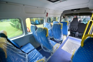 Air conditioned: The 600 school buses headed to the country's rural areas are converted for 16+1 passengers. Mediafax Foto