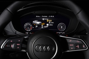 Bang & Olufsen Sound System with Symphoria in the Audi TT. Operated via the Audi virtual cockpit