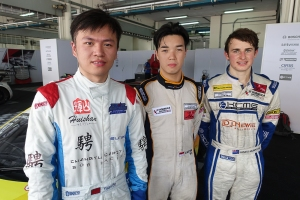 (left to right) Yuan Bo, Andersen Martono, James Munro