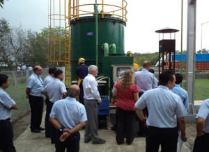Philip Kienle, VP Manufacturing GMIO & GM China inaugurating the Biogas Facility
