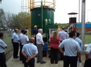 Philip Kienle, VP Manufacturing GMIO & GM China inaugurating the Biogas Facility