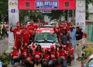 Team MRF celebrate their win in Malaysia.  Photo: APSM