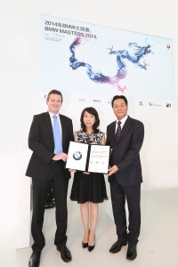 BMW Masters 2014: Kick-off Press Conference. Ben Cowen, Deputy Director of International Policy of the European Tour, Laura Wang, the Vice President, Sales, BMW China Automotive Trading Ltd., Wang Liwei.