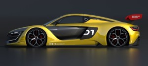 The sculpted lines of Renault Sport R.S. 01 bring to mind the concept car DeZir, presented in 2010.
