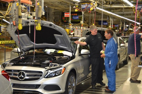 Production of the new Mercedes-Benz C-Class at Mercedes-Benz' U.S. plant in Tuscaloosa/Alabama