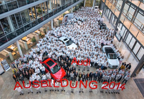 New arrivals in the Audi family: Today, 483 young people are starting their vocational training at the company's headquarters in Ingolstadt.