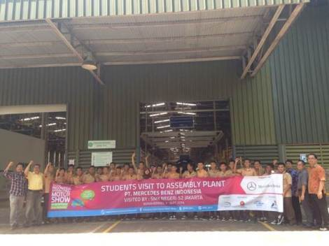 Students visit to PT Mercedes-Benz Indonesia  Automotive Assembly Plant.