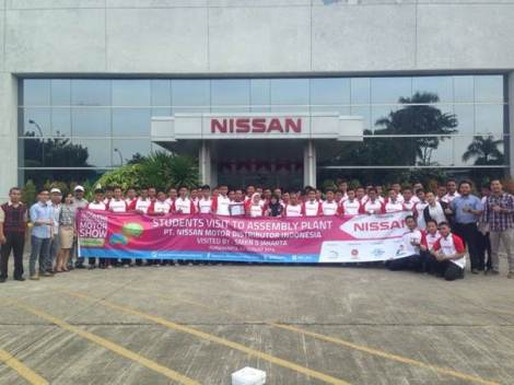 Students visit to PT Nissan Motor Distributor Indonesia Automotive Assembly Plant.