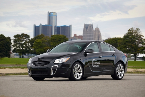 Opel Insignia Research Vehicle: Demonstrates low speed and highway speed automated driving.