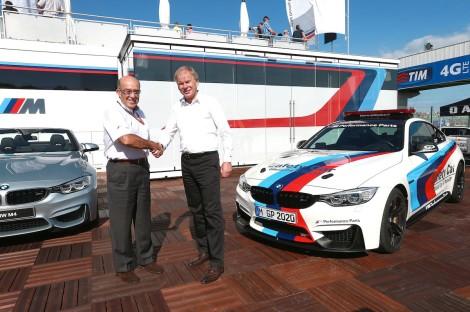 Carmelo Ezpeleta, CEO Dorna Sports and Dr. Friedrich Nitschke, President BMW M Division