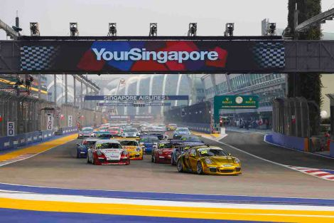 Porsche Carrera Cup Asia, Marina Bay Street Circuit, Singapore, 19-21 September 2014.