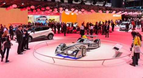 2014 Geneva Motorshow Formula E on the Renault Stand