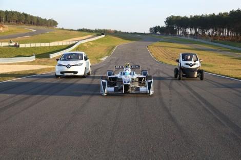 2013  Formula E SparkRenault SRT 01E with Renault ZOE and Renault Twizy