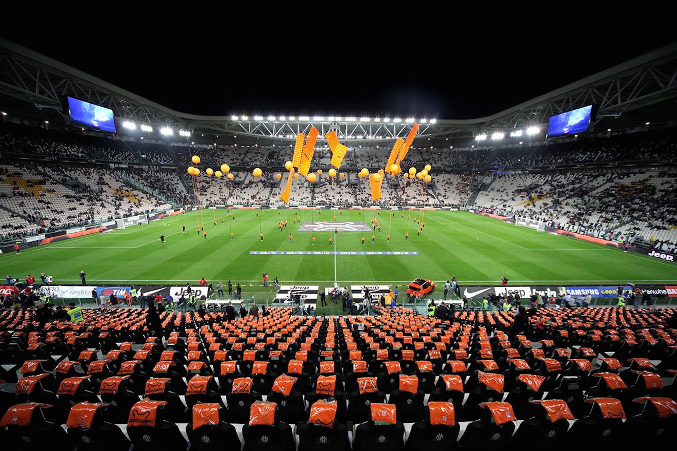Juventus Stadium Becomes Tinged With Renegade Orange Komarjohari