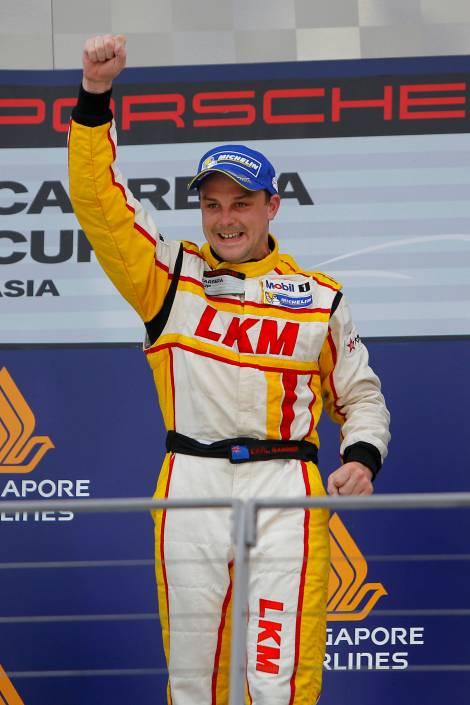 2014 Porsche Carrera Cup Asia Champion Earl Bamber