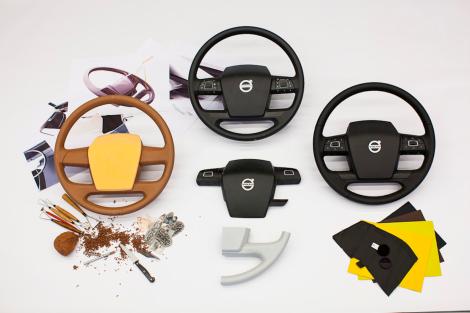 Proses desian ada beberapa tahap seperti terlihat pada steering wheel ini