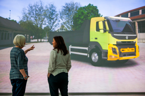 Using advanced 3D visualisations of the truck, it is possible to see what the new models will look like in their natural environment already in the conceptual stage.