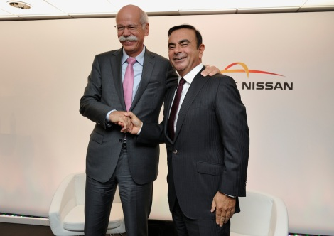 Dr. Dieter Zetsche, Chairman of the Board of Management of Daimler AG and Head of Mercedes-Benz Cars, and Renault-Nissan CEO and Chairman Carlos Ghosn