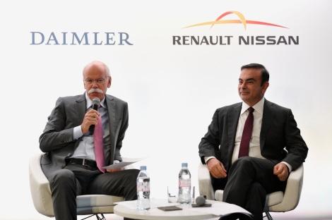 Dieter Zetsche (left) and Carlos Ghosn