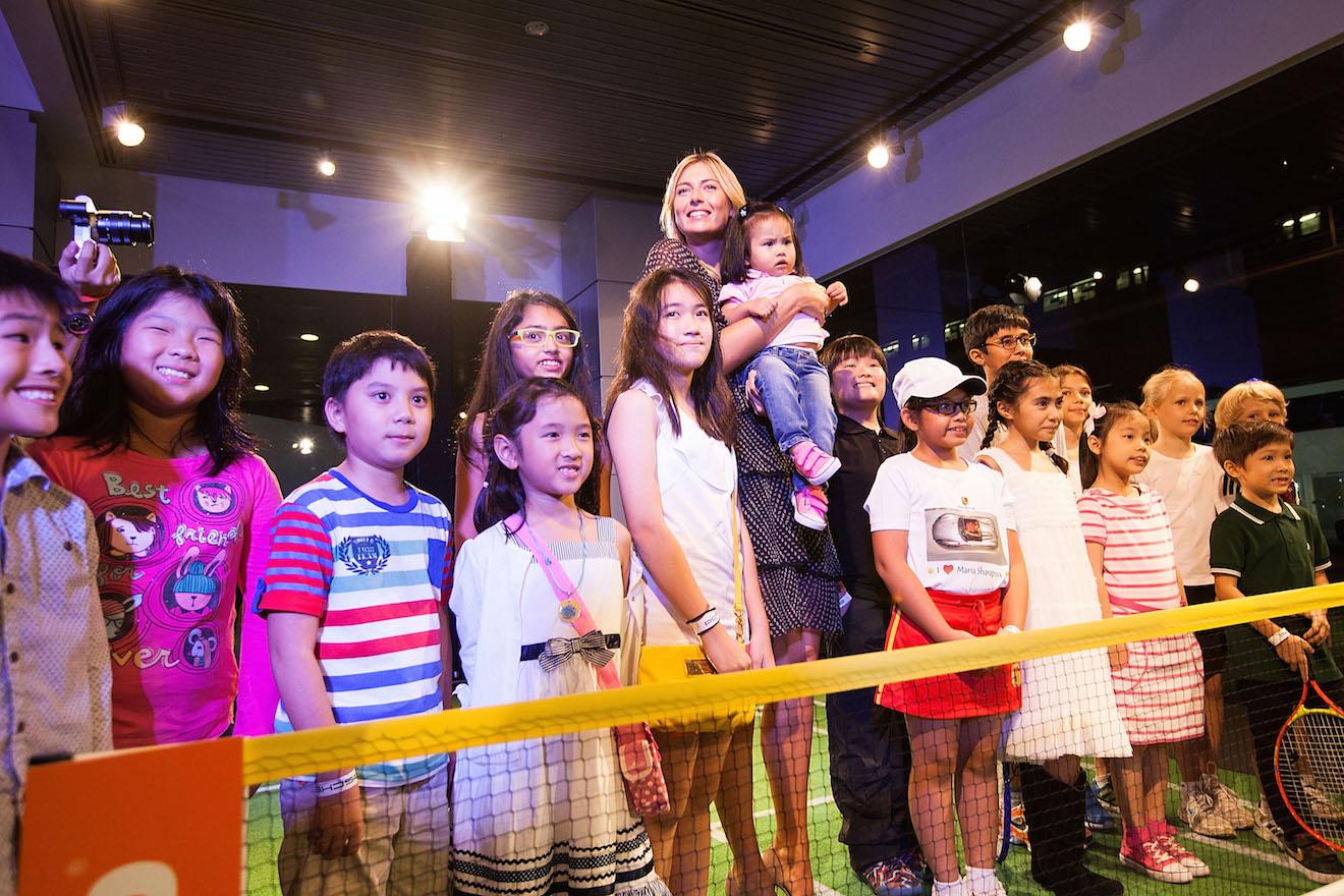 Maria Sharapova Stopped By The Porsche Centre Singapore To