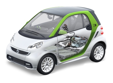 smart fortwo electric drive: Electric powertrain with lithium-ion battery by Deutsche ACCUmotive.