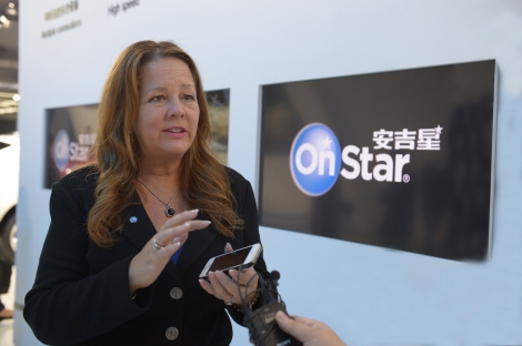 Ms Diane Jurgens Managing Director of Shanghai OnStar Telematics introduces new telematics services