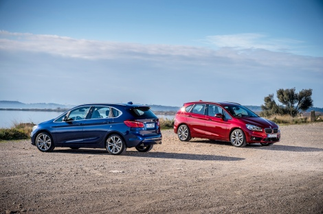 The new BMW 220d xDrive Active Tourer and the new BMW 225i xDrive Active Tourer